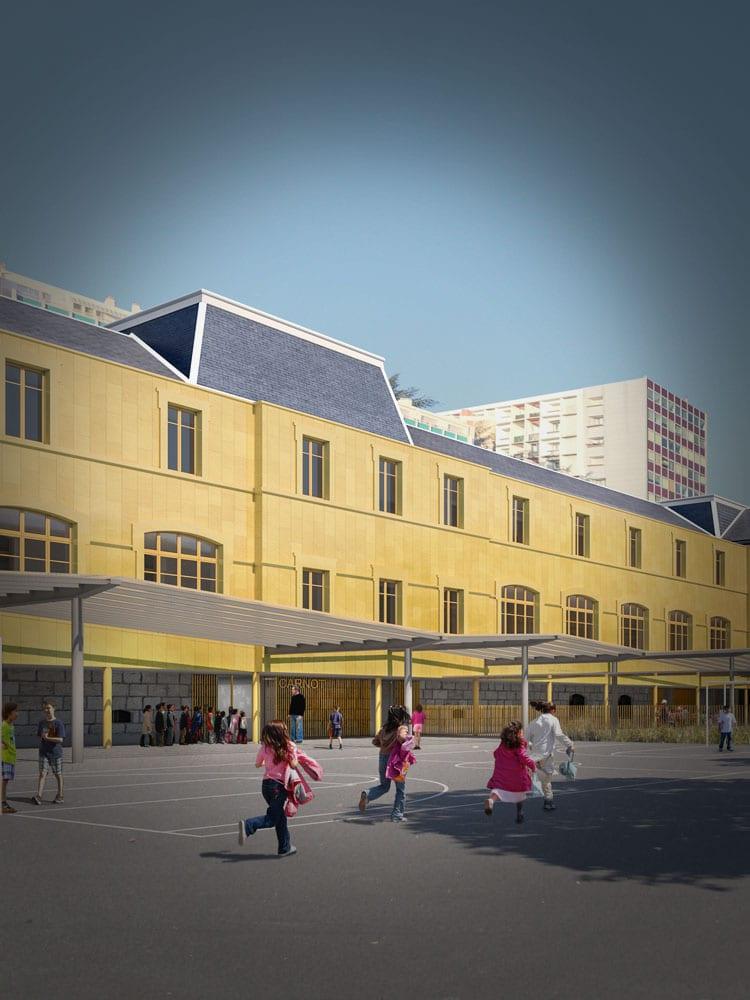 Cour école Carnot Annecy