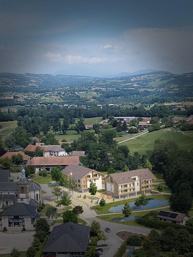 Vue 3d lotissement Haute-Savoie